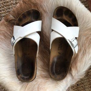 Birkenstock Birki's White Sandal 10